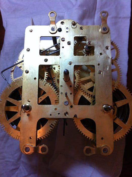 Reassembled Seth Thomas clock movement